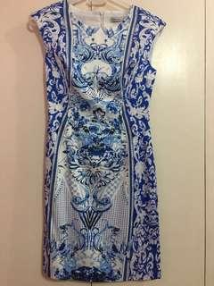 Karen Millen Dress (Blue & White)