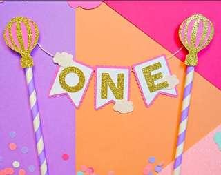 Cake 🎂 Topper Hot Air Balloon