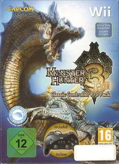 Monster Hunter 3 Tri with Classic Controller Pro (Wii)
