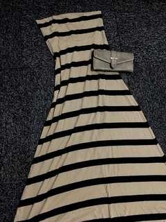 Tube Maxi striped dress