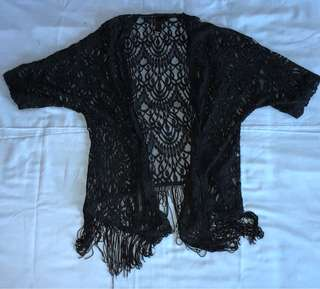 Factorie lace outer with fringe