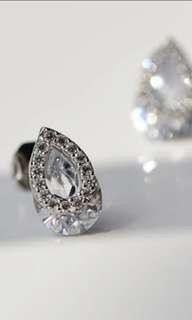 (有現貨) 925純銀超閃鋯石耳環