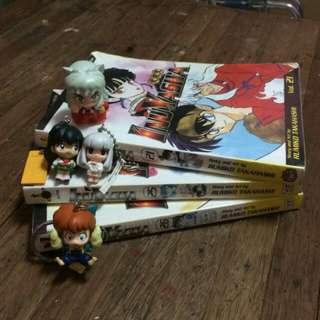 All : InuYasha Manga & Bandai Keychains