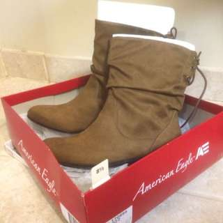 American Eagle Megan Faux Suede light brown Bootie
