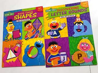 Sesame Street Wipe-Off Workbook (Ages 2 to 4)