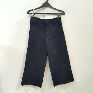 Navy Culotte Trouser