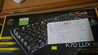 Corsair 紅軸k70 rgb keyboard + m65 pro mouse + mm300 滑鼠墊