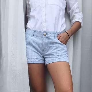 F21 Striped Shorts