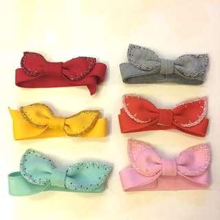Ribbon - headband baby bahan scuba