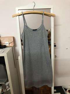Preloved Topshop grey basic petite dress (uk4)