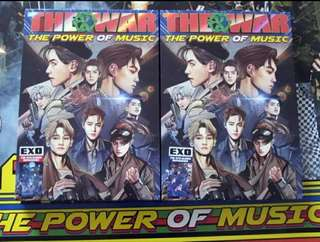 EXO hand signed The war of music album