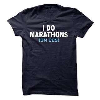 I Do Marathons On CBS Unique Unisex Design Tshirt Tee