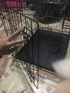 Collapsible Quality Material Dog Crate with free poop tray