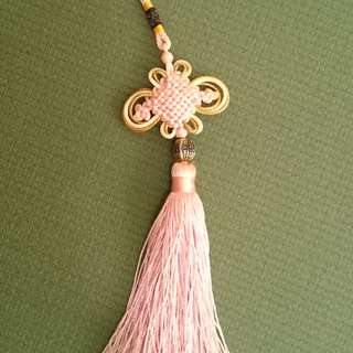 Pink Chinese tassel decoration