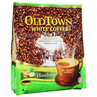 Old Town White Coffee Hazelnut Classic Coffee & Cream Cane Sugar White Milk Tea Mocha Less Sugar