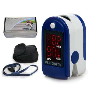 🚚 LED Pulse Oximeter with Heart Rate Monitor includes Pouch & Lanyard (Dark Blue)
