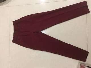 Zaloran maroon work pants