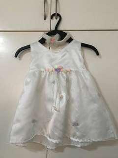 White dress for 6-12mos