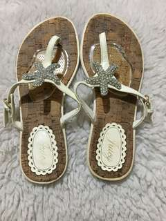 Authentic Juicy Couture Rhinestones Starfish Thong Sandals