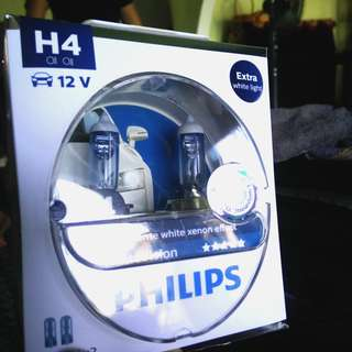 Philips White Vision 3700K Halogen Bulb (H4)