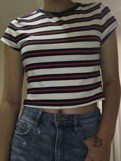 Striped Crop Top / H&M