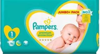Pampers premium protection newborn 96 pieces 2-5kg (size 1)