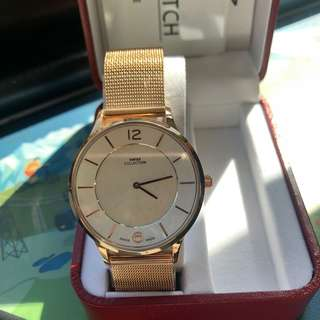 Swiss collection watch (Limited edition) rose gold colour, 36mm