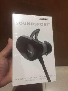 Bose soundsport 黑色藍芽耳機 防水運動 音樂耳機 全新未拆封
