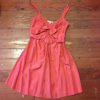 Fleur Wood red silk dress