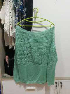 Green outer top