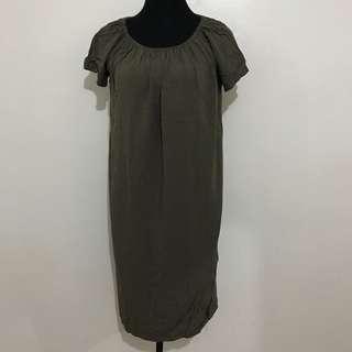 Moss Green Dress / Olive Green Dress