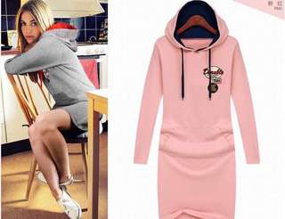 🎀Long Sleeve Hoodie Dress