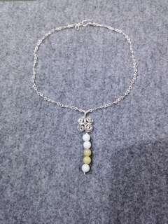 純手工自家設計925銀+天然摩根石鎖骨項鍊 😊 handmade 925 silver+natural morganite necklace😊