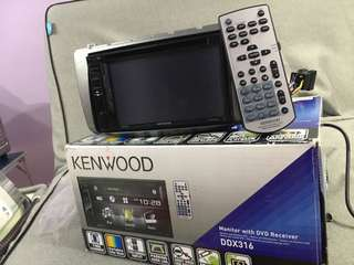 KENWOOD DDX-316 DOUBLE DIN CAR STEREO PLAYER