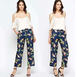 Semi Off Floral Pants Coords