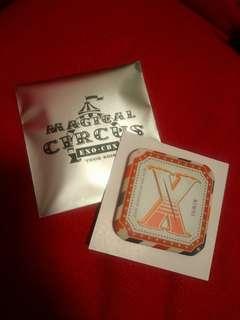 EXO CBX 日本巡演 xiumin 襟章