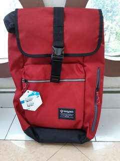 BODYPACK STRATOSPHERE 1 LAPTOP BACKPACK RED (PRODIGERS SERIES)