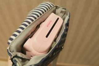 粉色拍立得(附背帶及自拍鏡)