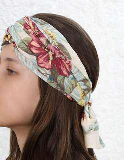 Zimmermann Hibiscus Floral Turban Headscarf