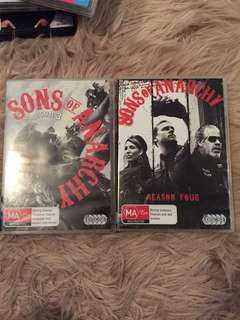 Sons of Anarchy season 3 & 4