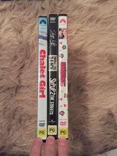 Set of 3 movies