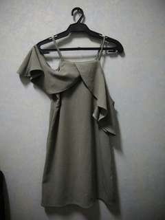 Gray Off Shoulder Dress