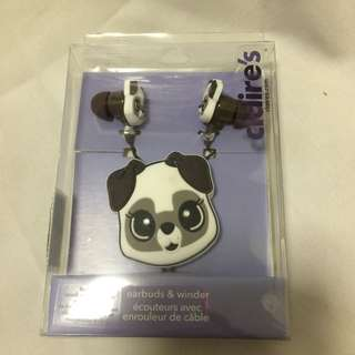 Claire's Cute Puppy Earphone