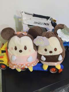 Tsum Tsum Plushies one pair