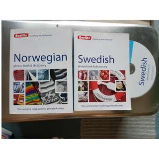 Norwegian (without CD) + Swedish (with CD) language phrasebook