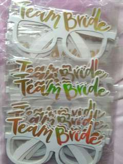 10 pcs Team Bride Sunglass For Bridal Shower
