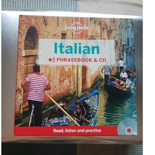 Italian Language phrasebook + Audio CD + hard casing