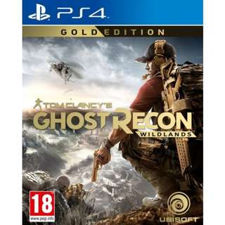 [GOLD EDITION] PS4 Tom Clancy's Ghost Recon: Wildlands Gold Edition Sony Ubisoft Action Games