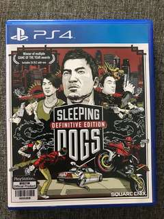 PS4 game Sleeping dog definitive edition