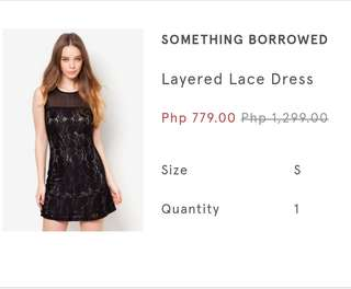 Something borrowed dress